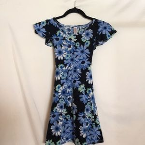 Cap sleeve flower spring dress by Justice
